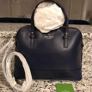 ✨SALE!✨Kate Spade NWT! RARE Navy Leather Dome Bag